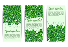 Set banners Patricks Day Royalty Free Stock Photography