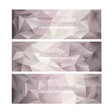 Set of Banners Polygonal Mosaic Backgrounds. stock images