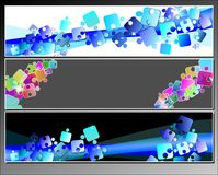 Set banners with puzzles Royalty Free Stock Photography