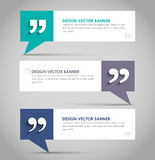 Set of banners with a quote bubble Royalty Free Stock Images