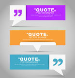 Set of banners with a quote bubble Royalty Free Stock Photography