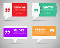 Set of banners with a quote bubble Stock Images