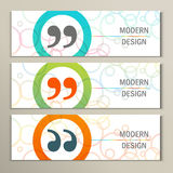 Set of 3 banners with quote text bubble Stock Photo