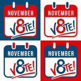 Set of banners reminding to vote in the presidential election Royalty Free Stock Photo