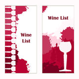 Set of banners for restaurant. Abstract background. Wine card, l Stock Images