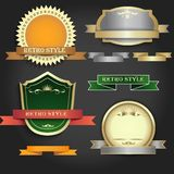Set of banners in retro style Royalty Free Stock Images