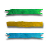 Set of banners ribbons. Set of design elements banners ribbons. Vector illustration. Plasticine modeling Royalty Free Stock Photos