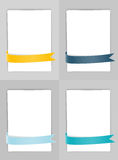 Set of banners with ribbons Stock Photo