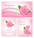 Set of banners with roses Stock Image