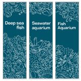 A set of banners a sea royalty free illustration