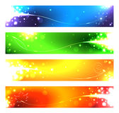 A set of banners for the seasons. Vector illustration stock illustration