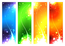 A set of banners for the seasons Stock Images