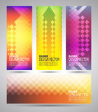 Set banners set with polygonal abstract shapes Royalty Free Stock Images