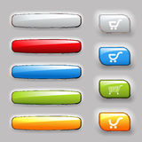 Set of banners and shopping buttons Royalty Free Stock Photo