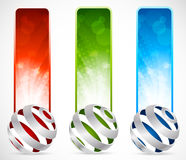 Set of banners with spheres Royalty Free Stock Photo