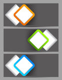 Set of banners with squares Stock Image