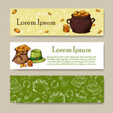Set of banners for St. Patrick Day. Irish holiday. Vector illustration Royalty Free Stock Image