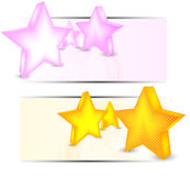 Set of banners with stars Stock Image