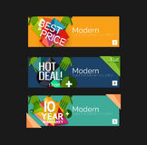 Set of banners with stickers, labels and elements Royalty Free Stock Images