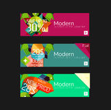 Set of banners with stickers, labels and elements Royalty Free Stock Photos