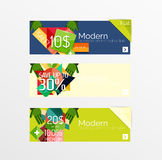 Set of banners with stickers, labels and elements Stock Photo