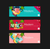 Set of banners with stickers, labels and elements Royalty Free Stock Photo