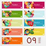 Set of banners with stickers, labels and elements Royalty Free Stock Photography