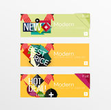 Set of banners with stickers, labels and elements Stock Image