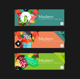 Set of banners with stickers, labels and elements Stock Photos