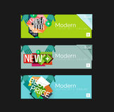 Set of banners with stickers, labels and elements Royalty Free Stock Image