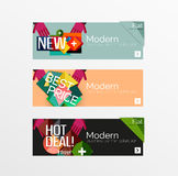 Set of banners with stickers, labels and elements Stock Photography