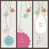 Set of banners with teapots Royalty Free Stock Images