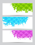 Set of banners with textures Stock Images