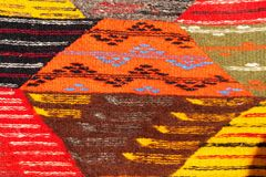 Set of banners with textures of berber traditional wool carpet with geometric pattern, Morocco, Africa. 2019 stock images