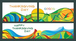 Set of banners for Thanksgiving day. royalty free illustration