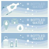 Set of banners for theme bottled  flat design. Vector illus Royalty Free Stock Photo