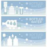 Set of banners for theme bottled  flat design. Vector  Stock Photography