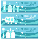Set of banners for theme bottled  flat design. Vector Royalty Free Stock Image