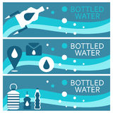 Set of banners for theme bottled  flat design. Vector  Royalty Free Stock Photos