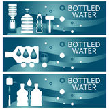 Set of banners for theme bottled water  design. Vector illus Stock Photography
