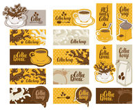 Set of banners on the theme of coffee Royalty Free Stock Images