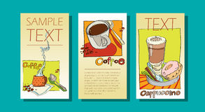 Set of  banners on the theme  coffee Stock Image