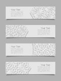Set of banners with traditional ornament Stock Image