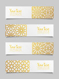 Set of banners with traditional ornament Stock Photos
