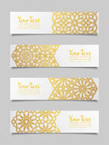 Set of banners with traditional ornament Royalty Free Stock Photography