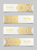 Set of banners with traditional ornament Royalty Free Stock Images