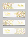 Set of banners with traditional ornament Stock Photo