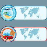 Set of banners with travel design, graphic templates royalty free illustration
