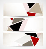 Set of banners with triangles Royalty Free Stock Photo