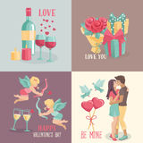 Set  banners  for valentine's day design. Royalty Free Stock Image